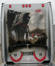 The #Spartan - Scania Truck Detail - by #ArteKaos #Airbrush - ArteKaos Airbrush