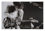 stevie ray vaughan, airbrush on cardboard - Airbrush Artwoks