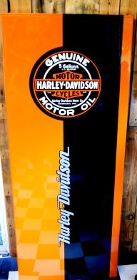 peinture harley Davidson sur frigo - frigos custom
