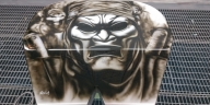 Detail: The #Spartan - by ArteKaos Airbrush - ArteKaos Airbrush