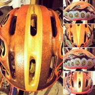 This helmet I airbrushed and hand painted - Hand painted cycling helmets