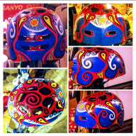 this skateboard helmet was hand-painted in acrylics, I donated it to Kids for Cancer   - Hand painted cycling helmets