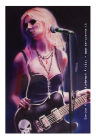 taylor momsen, airbrush ink on cardboard - Airbrush Artwoks
