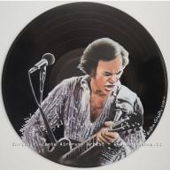 Neil diamond - airbrush on vinyl record - Airbrush Artwoks