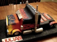 ▶ Transformers - Optimus Prime Fondant Birthday Cake - YouTube - Airbrush on Foods