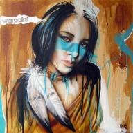 """""""Warpaint"""" - Original painting by Tim Miklos 2013 - My Paintings"""