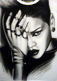 Rihanna by Tim Miklos - My Paintings