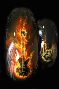 flame quitar - Airbrush Artwoks