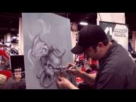 ▶ UBO Scott MacKay Airbrush Tips at Boston World Of Wheels - Airbrush Videos
