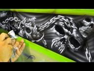 ▶ Airbrushing Evil Skulls - Airbrush Videos