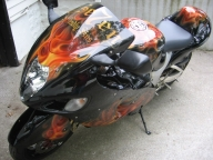 Airbrush on Hayabusa - Airbrush Artwoks