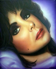 Elizabeth Taylor on Canvas - My Paintings