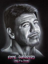 Eddie Guerrero on black tee - My Paintings
