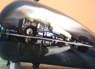 Route 66 - Gas Tank Harley Davidson - Kustom Airbrush