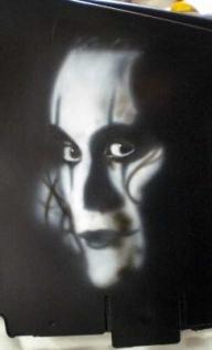 The Crow - Battery cover - Kustom Airbrush