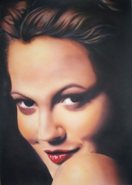"""Drew Barrymore"" by Lizzies - Photorealism"