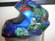Custom airbrushed design on hockey mask by Fester Custom Airbrushing 2013 - Helmets