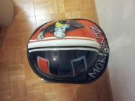 Airbrushed UM design on fireman's helmet by Fester Custom Airbrushing - Helmets