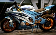 Yamaha r6 custom paint and wheels airbrush design car modification - Kustom Airbrush