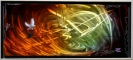 HALO ORANGE DOVE VORTEX | Noah Fine Art - Top Airbrush Artwork on the Web