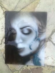 Airbrush on Glass - Favorite Art