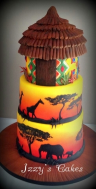 Airbrushed and very well done.   Airbrush - Food