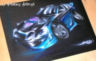 Caricature on Carbon Panel - ArteKaos Airbrush