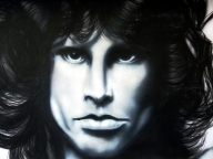 Jim Morrison Acrilyc on cardboard - Portraits
