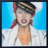 Cristina Aguillera Acrilyc on canvas - Portraits