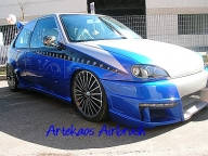 Kustom Airbrush on Saxo Tuning Car by ArteKaos - ArteKaos Airbrush