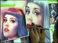 ▶ Airbrushing A Portrait of Katy Perry - Airbrush Videos
