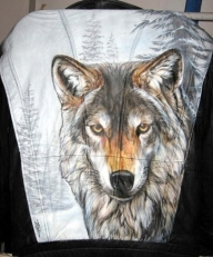 Custom airbrushed Leather Jacket by Tim Miklos of iPaint Airbrush Studio  - My Paintings