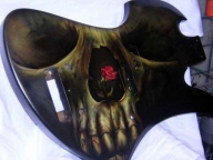 Custom Airbrushed Guitar, by Tim Miklos of iPaint Airbrush Studio on Behance - My Paintings