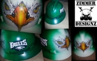 Just finished Philadelphia Eagles airbrushed hard hat.  ZimmerDesignZ.com - My Designs