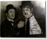 Stan & Ollie - Airbrush freehand - Airbrush Artwoks