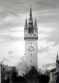Tower - Airbrush freehand 21 cm broad 28 cm high (DIN A4) - Airbrush Artwoks