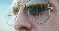 Artist Simon Hennessy creates hyper-realistic paintings of famous landmarks reflected in sunglasses lenses   Mail Online - Favorite Art