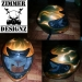 Airbrush Orange flame metal flake helmet.