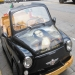 Custom old Fiat 500: Airbrushed Portrait