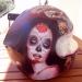 Helmet airbrush Sylvia Ji by cultairbrush
