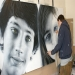 Me working on last painting - Simon Hennessey ' Simz