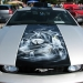 Ford Mustang hood art