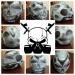 Custom airbrushed full face skull helmet