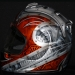 Kenny Coolbeth Helmet Harley Davison Theme with Metal