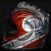 Kenny Coolbeth Helmet Harley Davison Theme with Metal