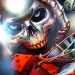 Skull and dice airbrush artwork