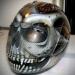 Silver Skull Design Crash Airbrush Helmet