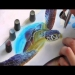 Airbrush Tutorial: Turtle Sealife Stencil Harder