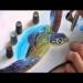 Airbrush Tutorial: Turtle Sealife Stencil Harder
