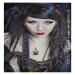 nero gothico, airbrush portrait on schoellerboard, cm.40x60